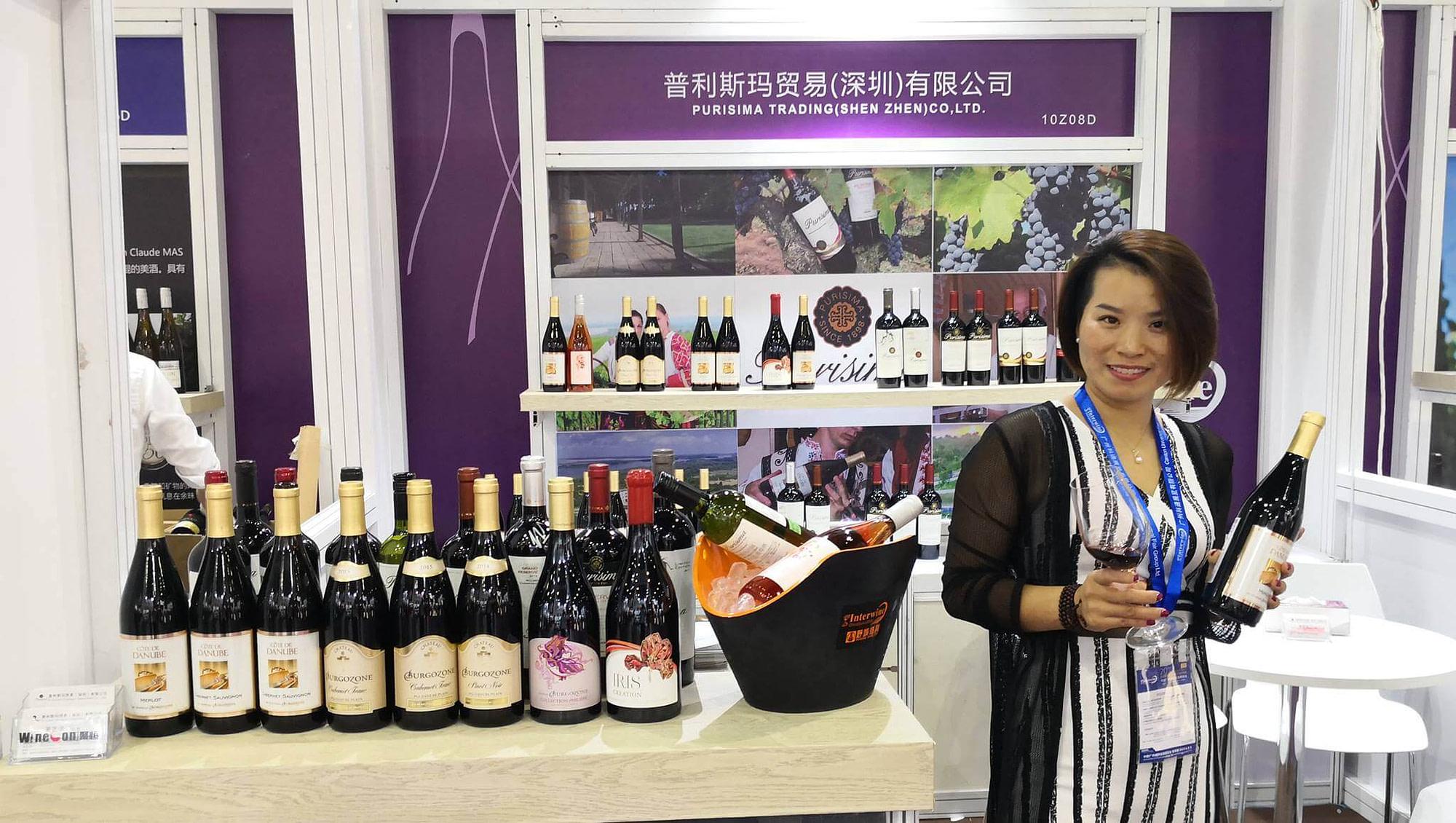 Китайски медии отразяват вината на Бургозоне на изложението Interwine China в Гуанджоу